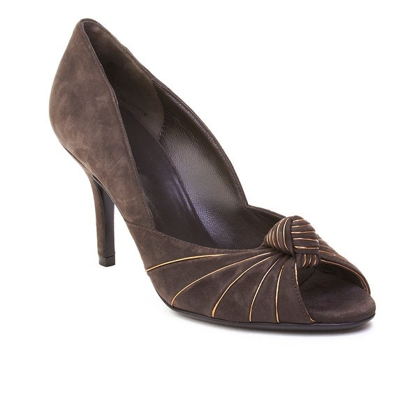 Gucci Women's Suede High Heel Shoes Grey