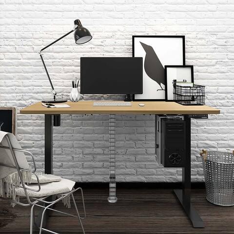 Flexispot Electric Memory Controller Stand Up Desk Workstation Desktop Adjustable Height Standing Desk Black Frame