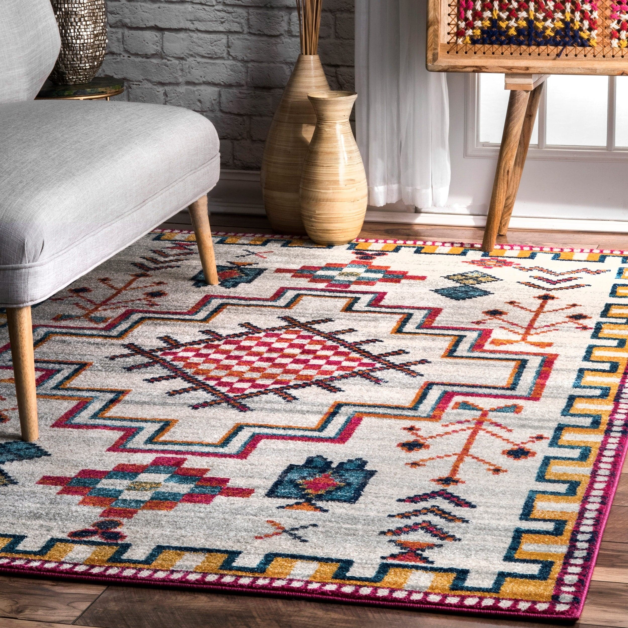 Image of: Shop The Curated Nomad Chattanooga Contemporary Southwestern Area Rug 9 X 12 9 X 12 Overstock 26457006
