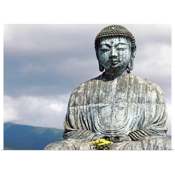 """""""Statue of Buddha , Hawaii , USA"""" Poster Print"""