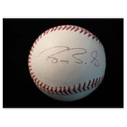 Signed Bonds Barry MLB Baseball In Black Ink On The Side Panel autographed