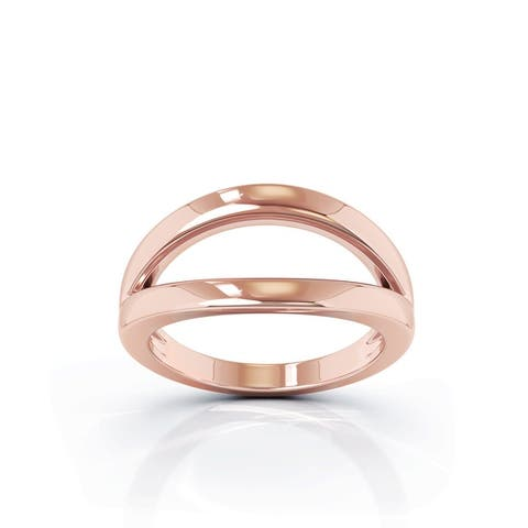 14K Gold Open Lines Split Ring by Noray Designs