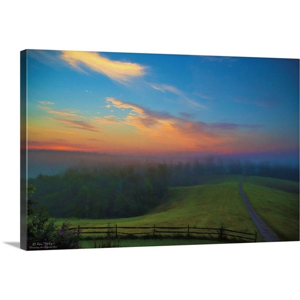 """Mornings in Appalachia"" Canvas Wall Art"