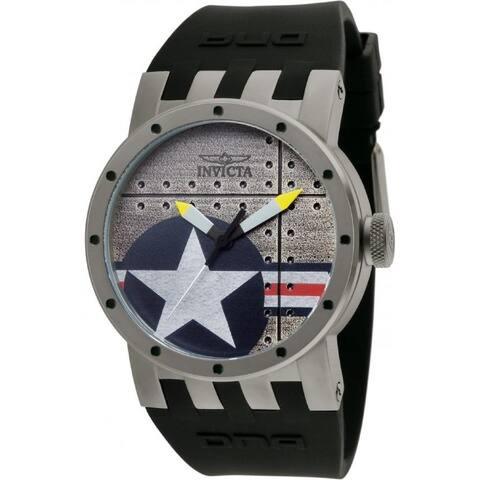 Invicta Men's 11647 'DNA' Black Polyurethane Watch