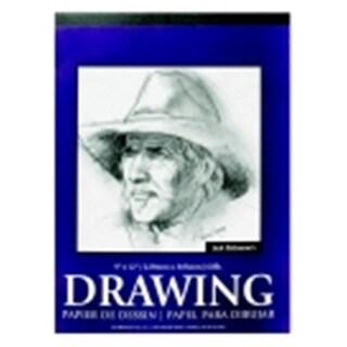 Jack Richeson Taped Binding Drawing Pad - 18 x 24 in. - Bright White