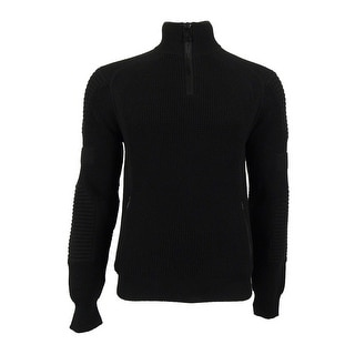 Polo Ralph Lauren Men's Quarter Zip Knit Sweater (L, Black) - L