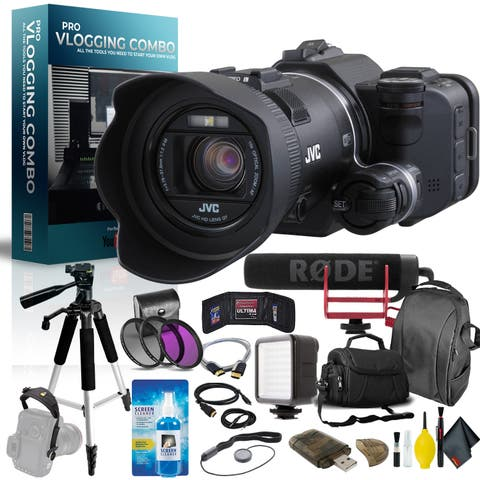JVC GC-PX100 Full HD Everio Camcorder Pro Vlogger Combo