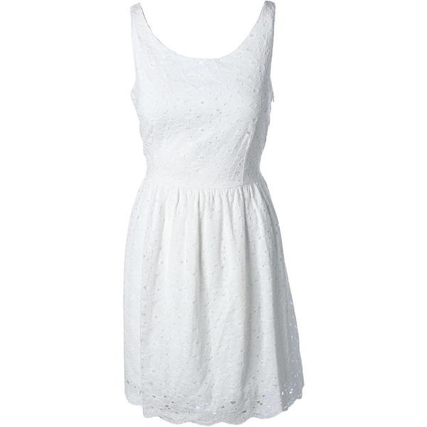 Aqua Womens Casual Dress Lace Sleeveless