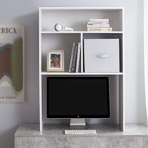 Yak About It Extra Depth Cube Dorm Desk Bookshelf - White