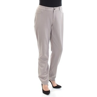 INC Womens Gray Straight leg Wear To Work Pants Size: 14