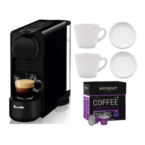 Nespresso Essenza Plus Coffee Machine w/ Coffee Capsules Bundle