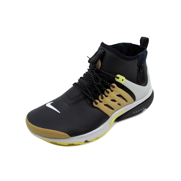 Nike Men's Air Presto Mid Utility Black/Yellow Streak 859524-002