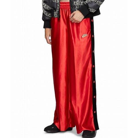 Nike Women's Pants Red Size Medium M Sportswear Glam Dunk Snap Loose