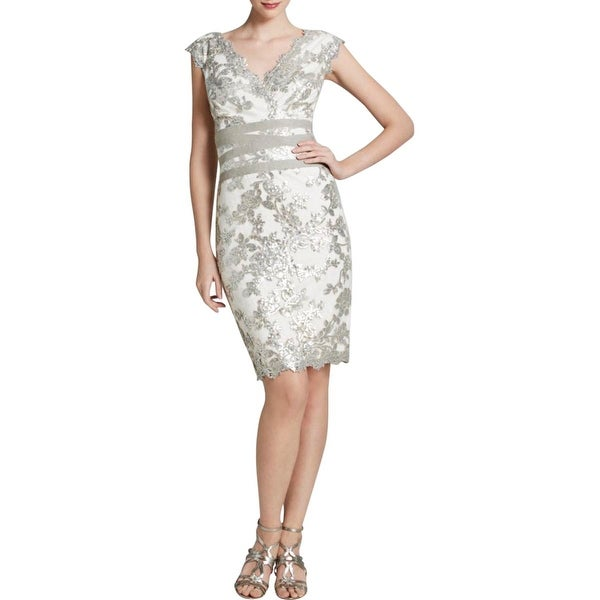 Tadashi Shoji Womens Cocktail Dress Sequined Knee-Length