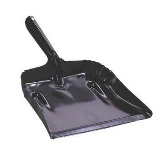 "Fulton 182B-20 Steel Dustpan, Black, 7-1/2"" x 12-3/4"""