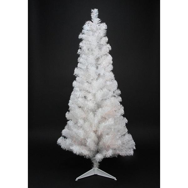 "4' x 24"" Slim White Tinsel Artificial Christmas Tree - Unlit"
