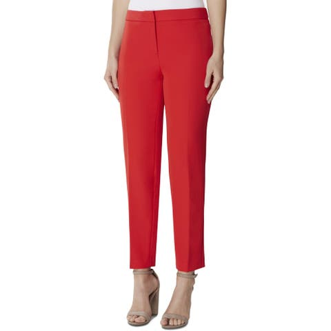 Tahari ASL Womens Dress Pants Woven Business - Scarlet Red