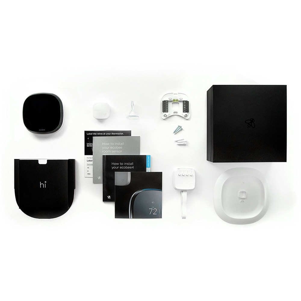 ecobee4 Smart Thermostat with Built-In Alexa Room Sensor Included