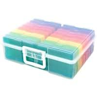 """Includes 16 Mini Cases - We R Craft & Photo Translucent Plastic Storage 15""""X12""""X5"""""""