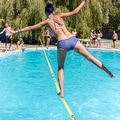 Driftsun Sports Slackline Complete Kit - 50FT Classic Slacklining Line with Training Line and Tree Guards - Thumbnail 4