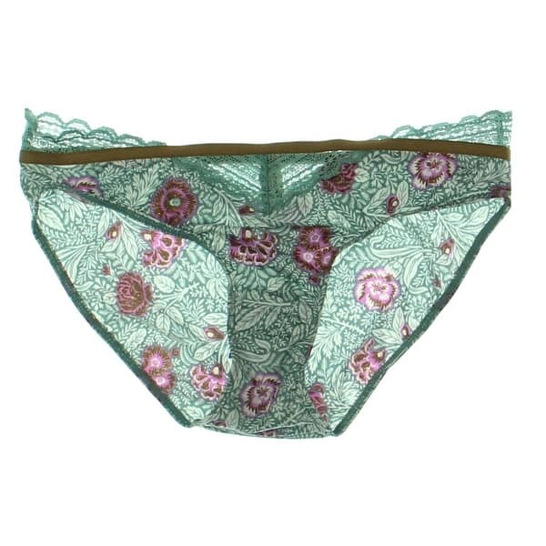 6219f431a3c6 Free People Womens Mari Hipster Panty Lace Trim Floral Print. Image Gallery