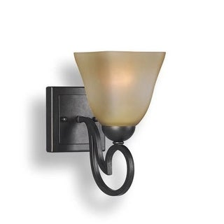Woodbridge Lighting 53101-BOR 1 Light Up Light Bathroom Fixture from the Palermo Collection