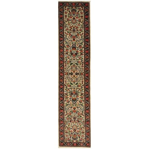 Handmade One-of-a-Kind Sarouk Wool Runner - 2'1 x 9'4