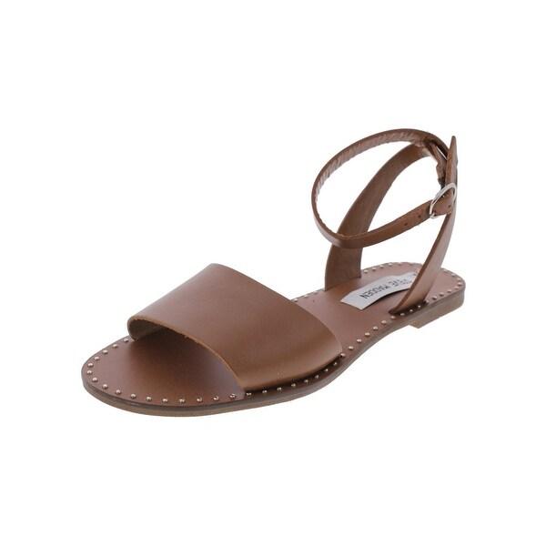 6e5cbace735eb Shop Steve Madden Womens Danny Flat Sandals Open Toe Studded - Free ...