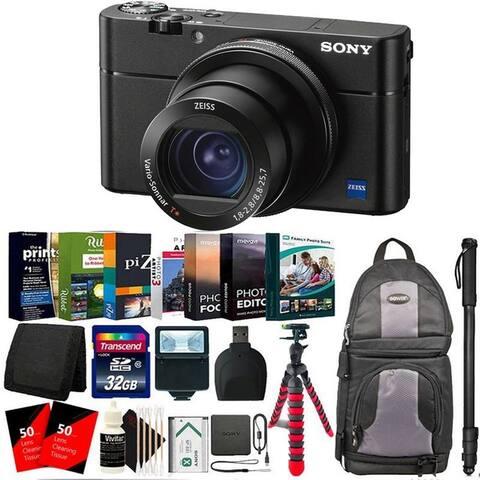 Sony Cyber-shot DSC-RX100 VA Digital Camera Black + Top Accessory Bundle