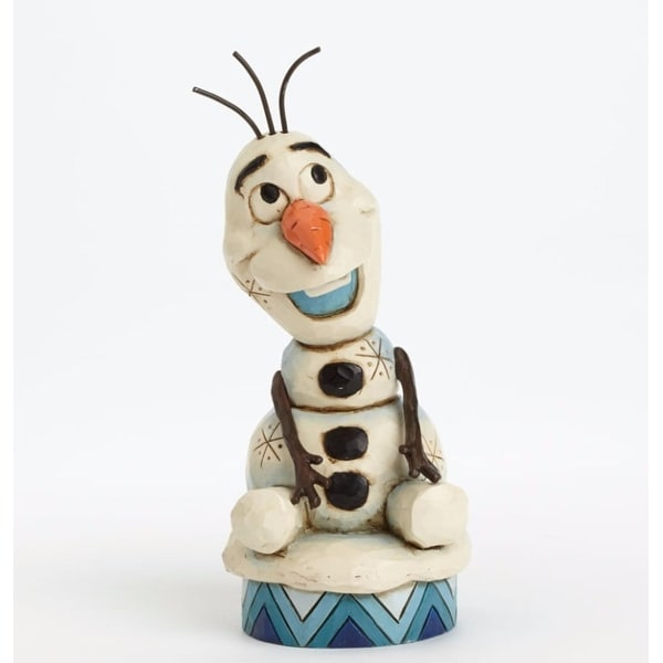 """Disney Traditions Frozen Showcase Collection """"Silly Snowman"""" Olaf Figurine #4039083 - WHITE"""