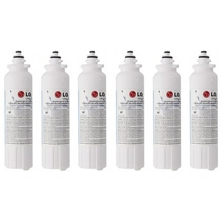 Original Water Filter Cartridge for LG LMXS30776S Refrigerator - 200 Gallon/6-Months (Pack of 6)