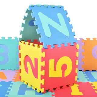 Costway 36 PCS Soft EVA Foam Baby Kids Play Mats Children Alphabet Number Puzzle Jigsaw