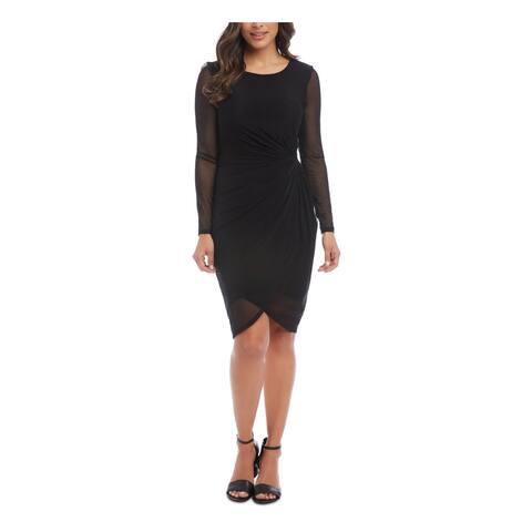 KAREN KANE Black Long Sleeve Knee Length Dress XS
