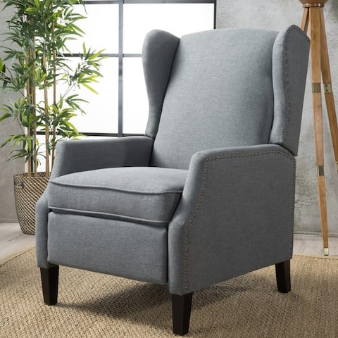 Wescott Wingback Fabric Recliner Club Chair by Christopher Knight Home