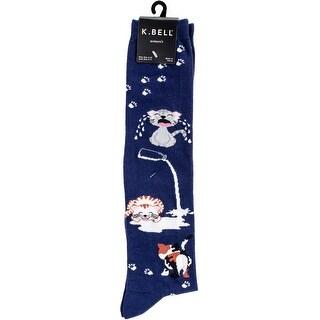 Novelty Knee High Socks-Cat Spilled Milk