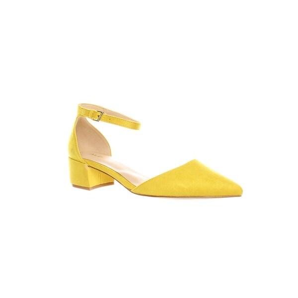 43278bc54 Shop ALDO Womens Zulian Mustard Ankle Strap Heels Size 8.5 - On Sale ...