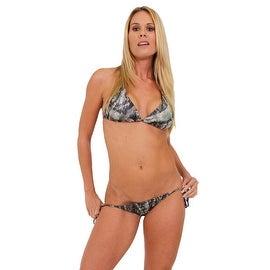 Women's Green Camo True Timber 2-Piece Bikini Swimwear Swimsuit Beach Camouflage