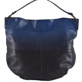 NEW Bottega Veneta Blue Black Ombre Leather Large Hobo Purse Handbag
