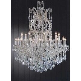 Swarovski Crystal Trimmed Maria Theresa Crystal Chandelier Lighting