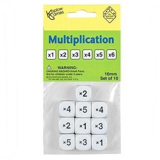 Multiplication Dice Set Of 10