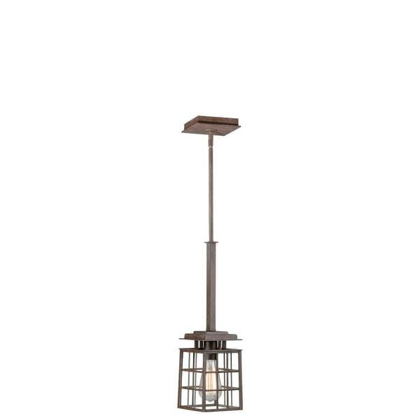 Vaxcel Lighting P0051 Pendant 1-Light Pendant - Rustic Bronze - n/a