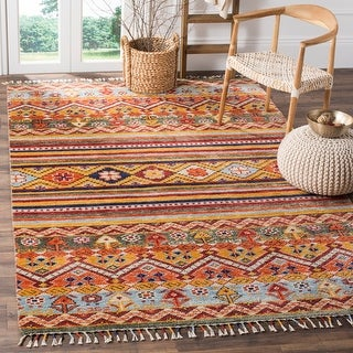 Link to Safavieh Hand-knotted Nomad Mahin Southwestern Tribal Wool Rug Similar Items in Rugs