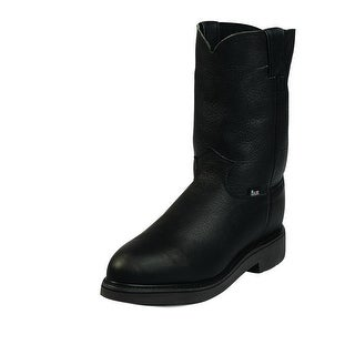 Justin Work Boots Mens Comfort Round Toe ST Western Black Pitstop 4767