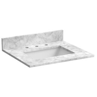 "Foremost ST25228 Granite Vanity Top 25"" with Back Splash, One Side Splash and Undermount Sink"