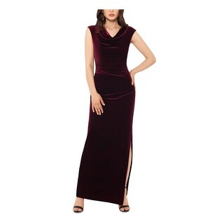 Link to XSCAPE Womens Burgundy Cap Sleeve Maxi Sheath Formal Dress  Size 10P Similar Items in Petites