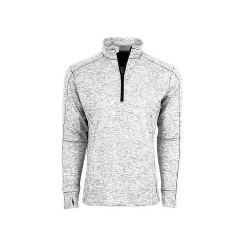 StS Ranchwear Western Sweatshirt Mens Quarter Zip Gray