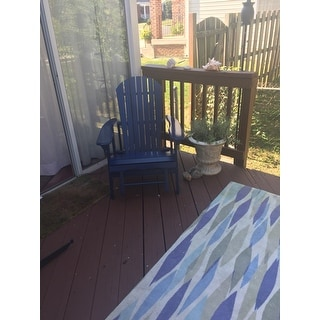 Shop Hayle Outdoor Reclining Wood Adirondack Chair With