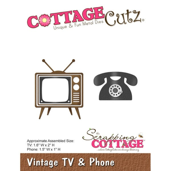 "CottageCutz Die-Vintage TV & Phone, 1"" To 2"""