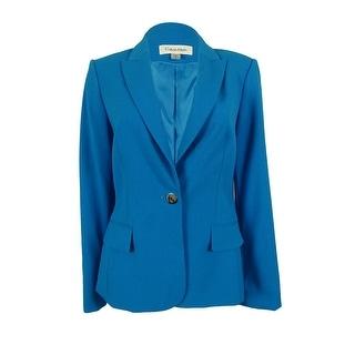 Calvin Klein Women's Single Button Blazer Jacket