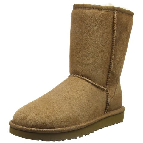 Ugg Womens Classic Short Closed Toe Mid-Calf Cold Weather Boots